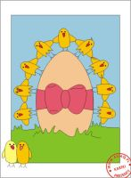 Easter chicken chain by asiaq