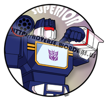 Soundwave: Superior (t-shirt design) by nadav