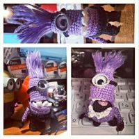 Evil Purple Minion Amigurumi by 666GirL666