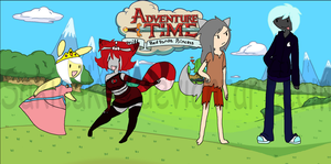 AdventureTime with Red Panda Princess and friends by SakiCakes