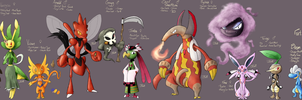PMD Personal Character Line up by TheChaosController