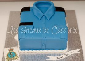 Navy shirt cake by buttercreamfantasies
