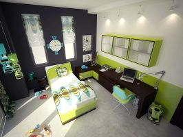 Kids Room -Green by aspa1984