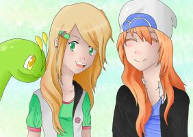 New friends:Katherine and Tamara by khfanT