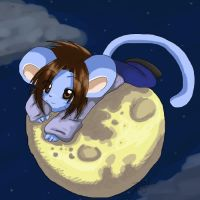 .::Mouse on the Moon::. by hedgie-girl