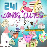 PACK ICONOS CUTES 241 DESCARGALOS ESTAM BUENOS by xRadioHysteriax