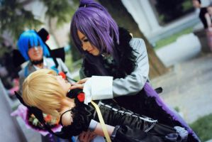Imitation Black - Gackpo+Len by midoriP