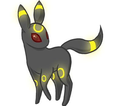First Tablet Drawing: Umbreon by Squeemishness