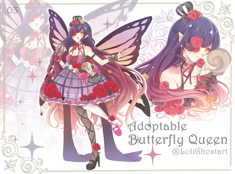 [Open]Adoptable : Butterfly Queen04 by LoliGhost