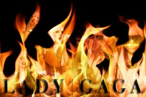 Lady Gaga Flames by J4MESG