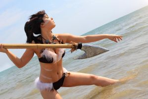 Pool Party Nidalee Cosplay - Speared by Kai-Goddess