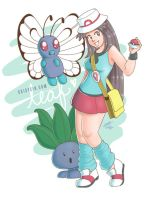 Pokemon Trainer: Leaf by daisyein