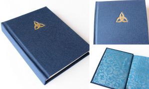 Blue Journal with Gilded Triquetra by GatzBcn