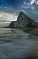 Gibraltar desde la playa by ufinderip
