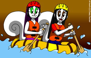 Squirrel Sisters' Whitewater Rafting by CaseyDecker