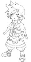 Chibi Ventus Lineart by Camellian-leaves