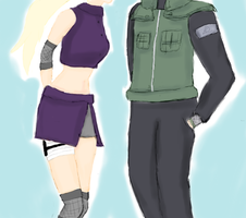 Shikamaru and Ino~ by TeamShikaIno
