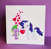 Rarispike - Rarity and Spike Valentines Card by Loreleiwave