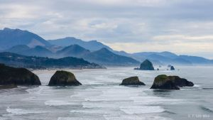 View from Ecola Point by AFL