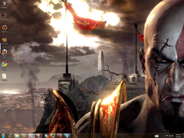 God Of War 3 Windows 7 Theme by yonited