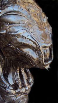 Alien head close 02 by Rodrigomagnovieira