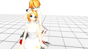 Update Models - Rin and Len Maids by Bloodobsessed