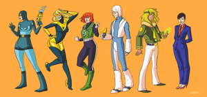 JLineup of Earth 11 by Mayeko
