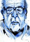 Ralph Steadman - A2 blue colour pencil/pen drawing by mjdawson23