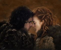 Jon and Ygritte by Liancary-Stock