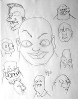 Character Faces by pauljs75