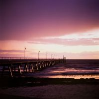 Sunset in Glenelg by Tatooinehermit