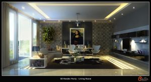 Living Room 1, 3D Render Party by cuanz