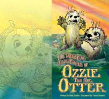 Ozzie the Otter book spread by draweverywhere