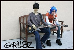 Murdoc and 2D by LiebestodBlut