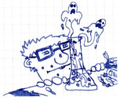Scribble - Brewing Artificial Ghosts by vonRibbeck