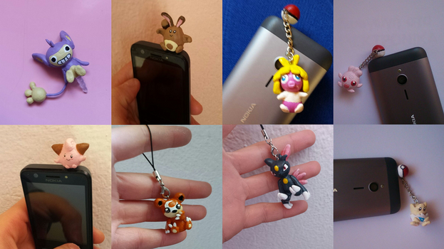 2nd Generation Pokemon Charms, Dust Plugs, Figures by MariC217