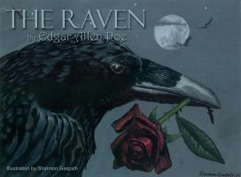The Raven :Edgar Allen Poe: by Shannon-Gaspich-1981