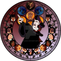 Frollo stained glass by jeorje90