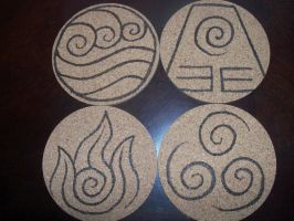 Avatar Coasters by TheTurnerPack