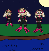 The Pink Berets Scuba Squad by TheEvstar