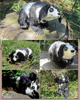 Rabbit Panda Bear (Posable Art Doll) FOR SALE by Red-Bunn3h