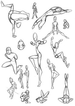 Buncha Poses by Obieros23