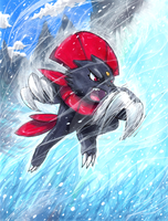 Weavile used Blizzard! by matsuyama-takeshi