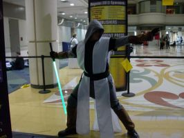 Off-screen: Stormtrooper flies off a railing by Starkiller-Cosplay