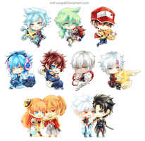 Chibi Acrylic Charms by Evil-usagi