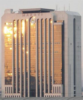 Sunset in Makati City Hall by beegee1963