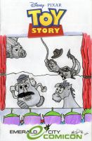 Toy Story Blank Variant Cover by johnnyism