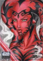Star Wars G6 - Darth Talon Return Card by DenaeFrazierStudios
