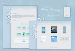 Winter Wonders - Journal + Gallery Skin by ginkgografix