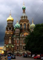 The church in Saint Petersburg by nebuhada